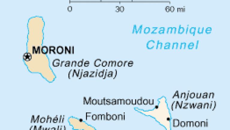 Comores: trois morts dans des affrontements armés sur l'île d'Anjouan