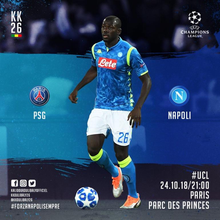 #LDC - 3e Journée : Kalidou Koulibaly au Parc des Princes, ce mercredi à 19h00