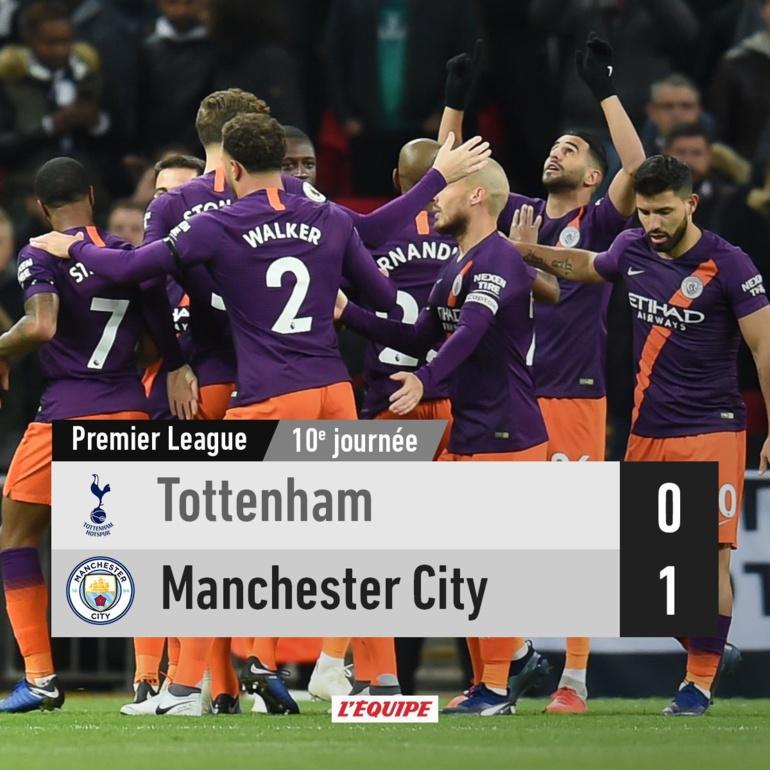 #PremierLeague : Manchester City reprend la tête en dominant Tottenham (0-1)