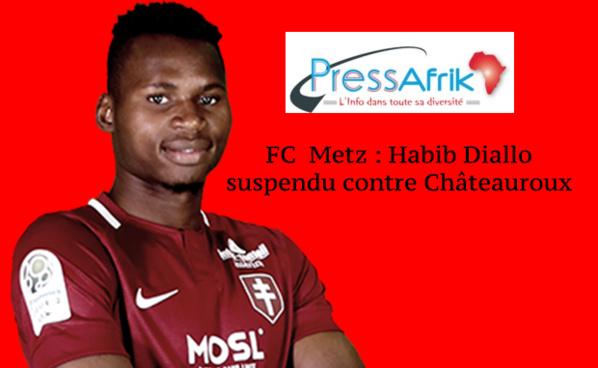 FC  Metz : Habib Diallo suspendu contre Châteauroux