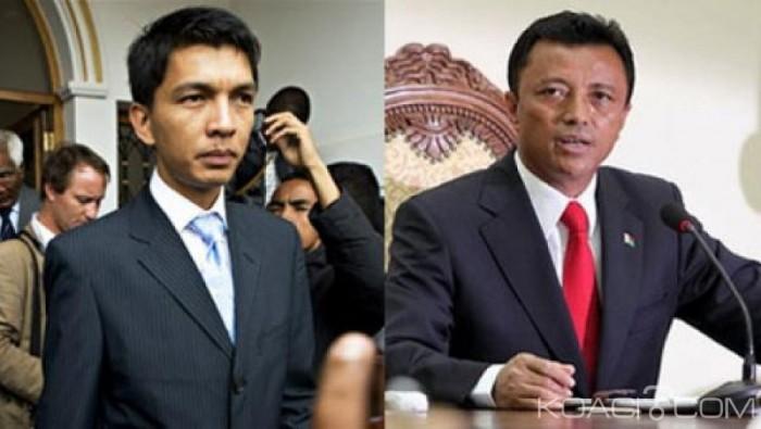 Madagascar : Présidentielle, Rajoelina et Ravalomanana en tête, avec 2,93%, le président sortant dénonce des «irrégularités»