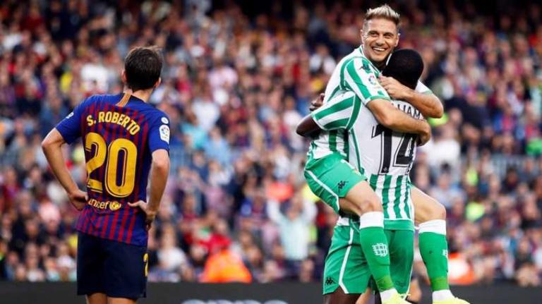Liga : le Betis maîtrise le Barça au Camp Nou !