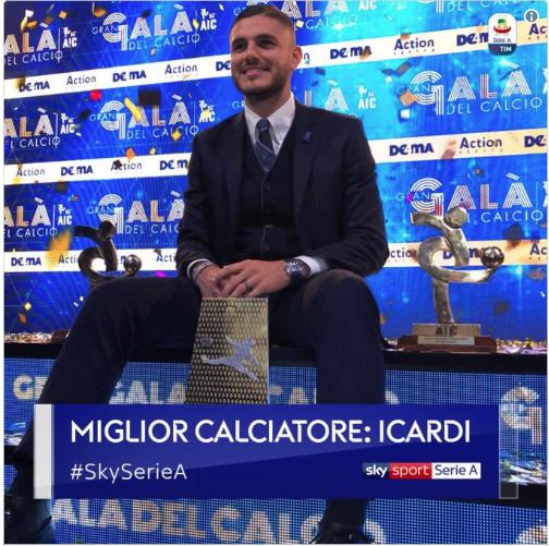 Italie : Icardi meilleur joueur en 2017-2018