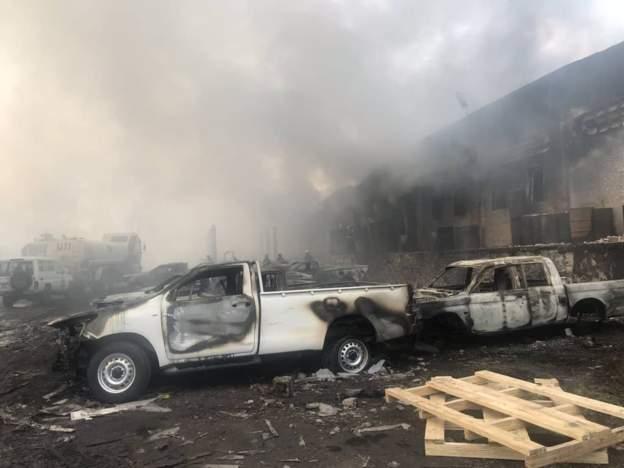 Incendie dans un entrepôt de la CENI à Kinshasa