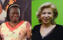 Simone Gbagbo et Dominique Ouattara. (Reuters)