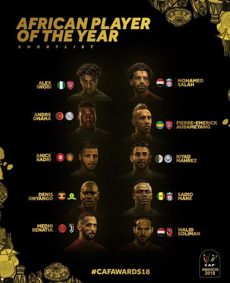 #CAFAwards : Kalidou Koulibaly pas dans la liste des 10 nominés pour le Ballon d'or africain