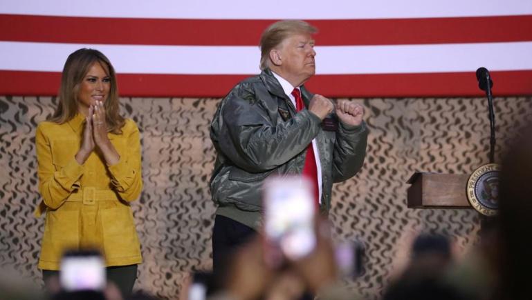 Visite surprise de Donald Trump aux troupes américaines en Irak