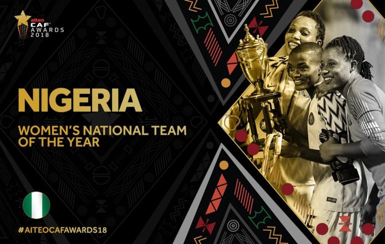 #CAFAWARDS2018 : le Nigéria sacré meilleure équipe nationale féminine