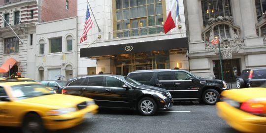 C'est dans la suite 2806 de cet hôtel new-yorkais que la plaignante dit s'être faite agressée par Dominique Strauss-Kahn samedi 14 mai.AFP/MONIKA GRAFF