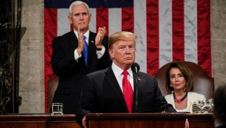 Donald Trump promet que le mur sera construit et appelle au «compromis»