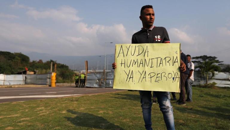 Venezuela: 30 tonnes d'aide humanitaire bloquées à la frontière