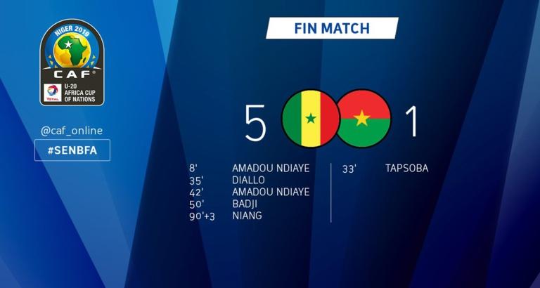 CAN U 20 : Le Sénégal bat le Burkina Fasso (5 - 1)