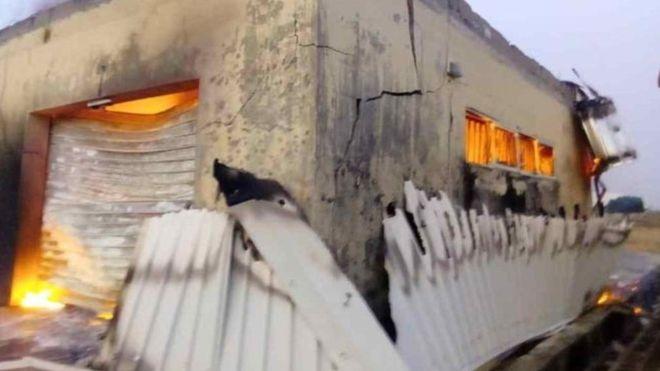 Incendie dans un bureau de la commission électorale du Nigeria