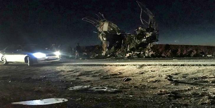 Urgent - Iran: un attentat-suicide contre un bus des Gardiens de la révolution fait 20 morts
