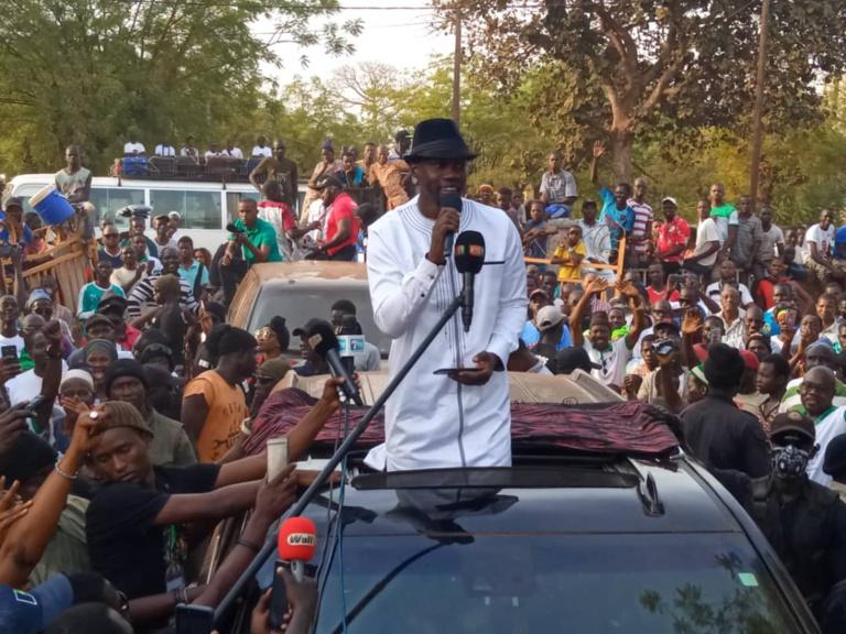 Kédougou : Ousmane Sonko promet de faire des régions périphériques sa priorité