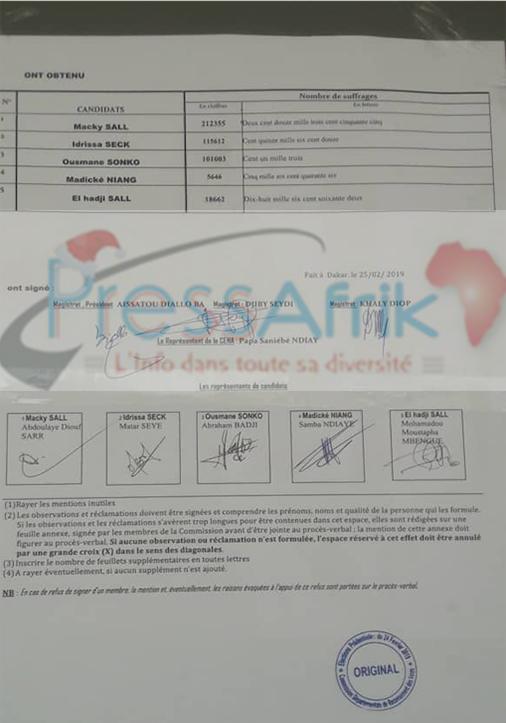#Scrutin24février: la commission départementale de recensement des votes dévoile les résultats de Dakar
