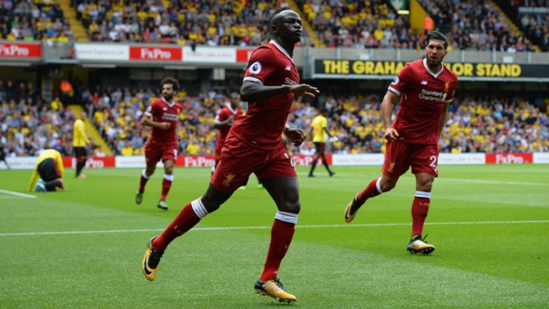 Liverpool-Watford: Sadio Mané inscrit un doublé en 20 minutes dont un but d'anthologie
