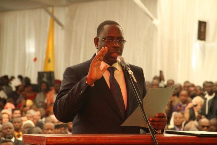 Prestation de serment de Macky: Arrivée du président Sall à Diamniadio