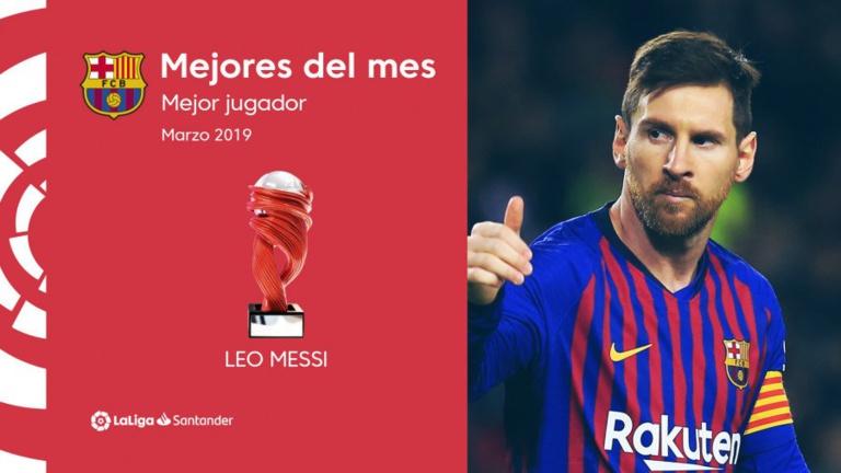 Liga : Lionel Messi désigné joueur du mois de mars