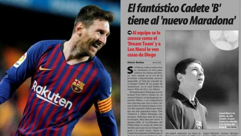 17 ans depuis la révélation de Messi dans la presse
