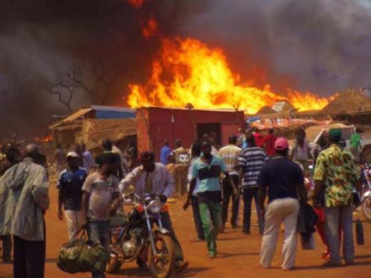 Violent incendie dans le département de Saraya: une partie du village de kharakhéna réduite en cendres