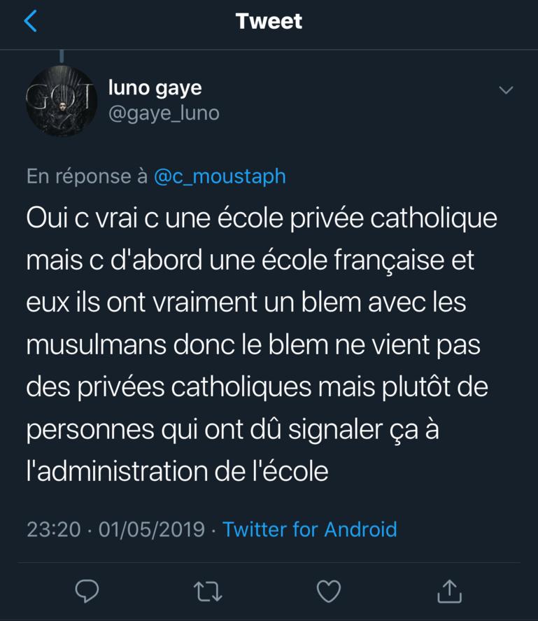 Institut Sainte Jeanne d'Arc de Dakar va interdire le port du voile dans ses écoles