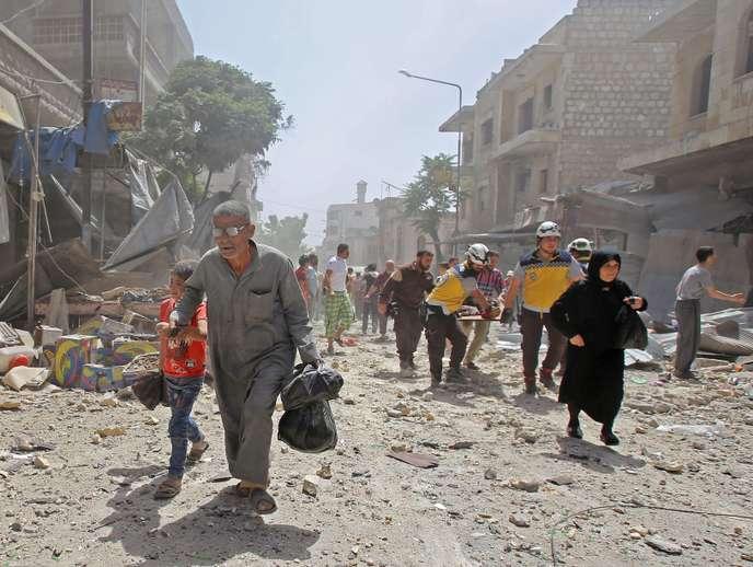 Syrie: des frappes aériennes de la coalition syro-russe ont tué au moins 35 combattants dont 26 prorégime dans le nord du pays selon l'OSDH
