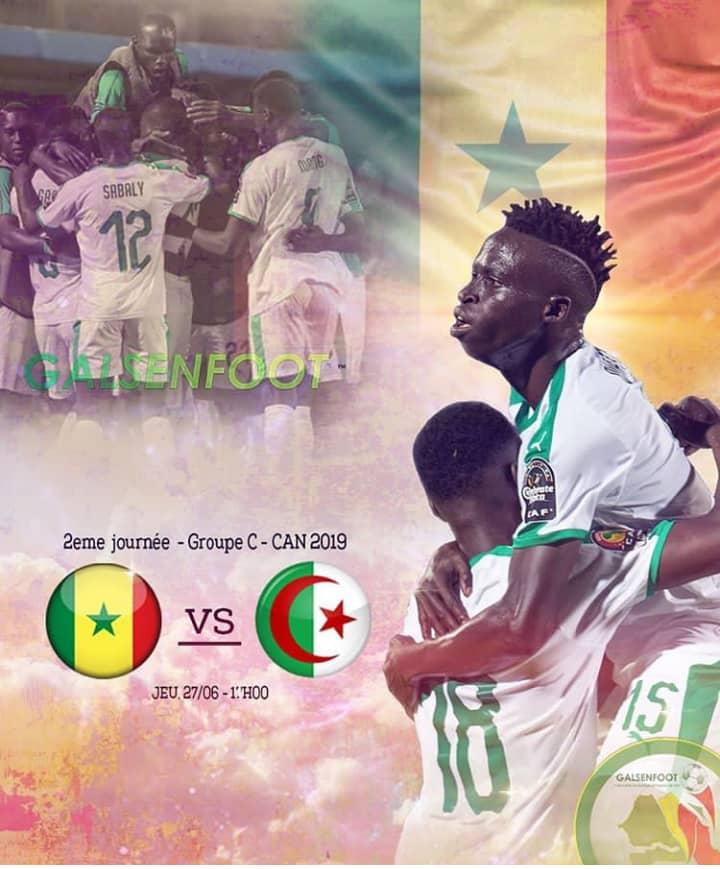 #CAN2019 - Voici les compositions officielles de Sénégal-Algérie