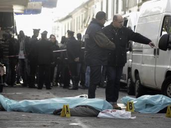 Deux Sénégalais ont trouvé la mort dans un marché du centre-ville, ce mardi 13 décembre. REUTERS/Stringer