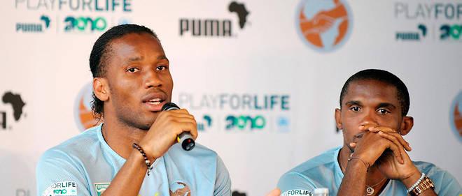 CAF : Drogba et Eto'o, collaborateurs officiels du président