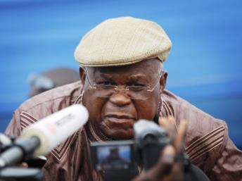 Etienne Tshisekedi, le 26 novembre, à Kinshasa. REUTERS/Finbarr O'Reilly