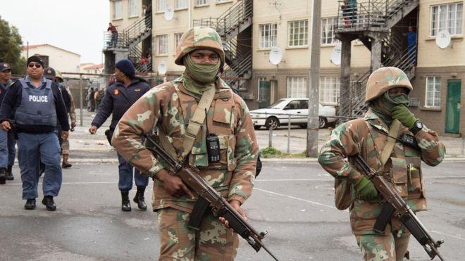 L'armée sud-africaine au Cap pour lutter contre la criminalité