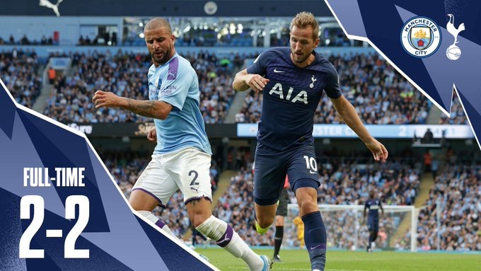Manchester City calent devant Tottenham (2-2)