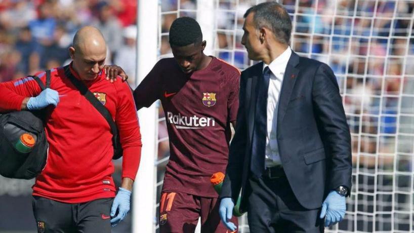 Barça: Blessé à la cuisse, Ousmane Dembélé forfait pour 5 semaines