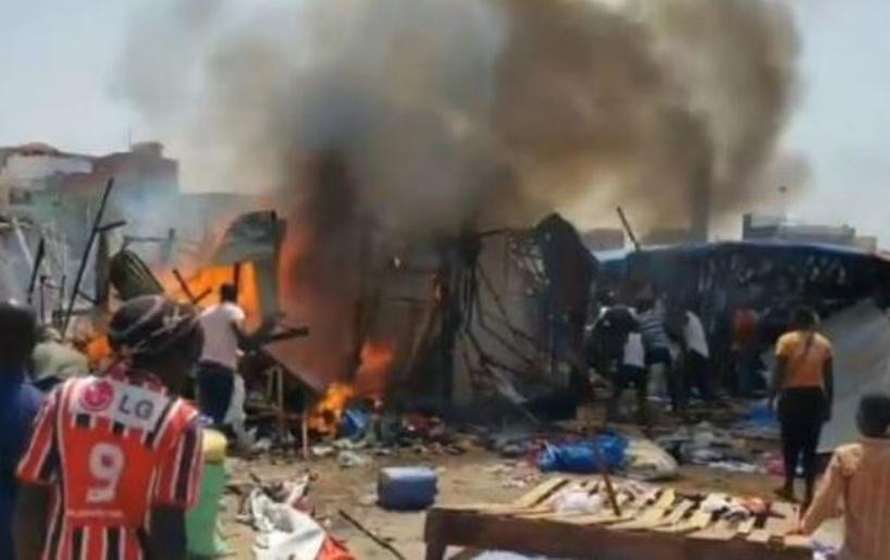 Incendie au marché Liberté 6: huit cantines parties en fumée