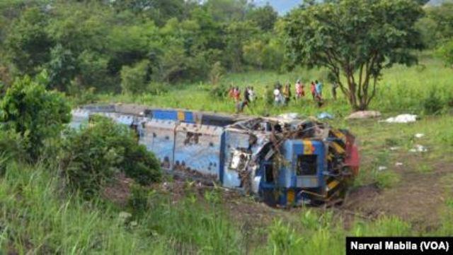 Au moins 50 morts dans le déraillement d'un train en RDC