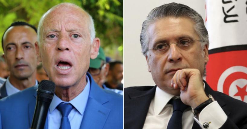 Présidentielle tunisienne : Kaïs Saïed, juriste hyper conservateur, devant l'homme d'affaires Nabil Karoui en prison