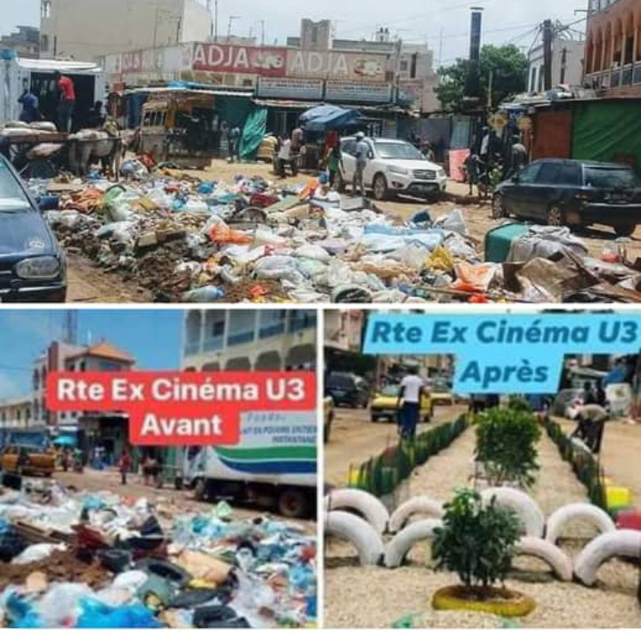 Golf Sud: Aida Sow Diawara provoque la colère des jeunes d'un mouvement en donnant 10.000 FCFA pour la réfection des rues