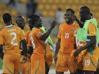 La Côte d'ivoire, l'équipe favorite de cette CAN 2012 affronte la Guinée équatoriale. REUTERS / Luc Gnago