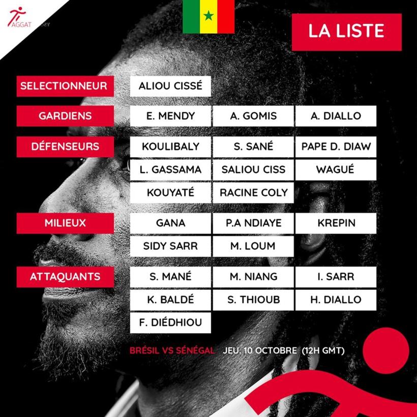 Vidéo - Amical Brésil-Sénégal: Aliou Cissé dévoile une liste de 23 joueurs