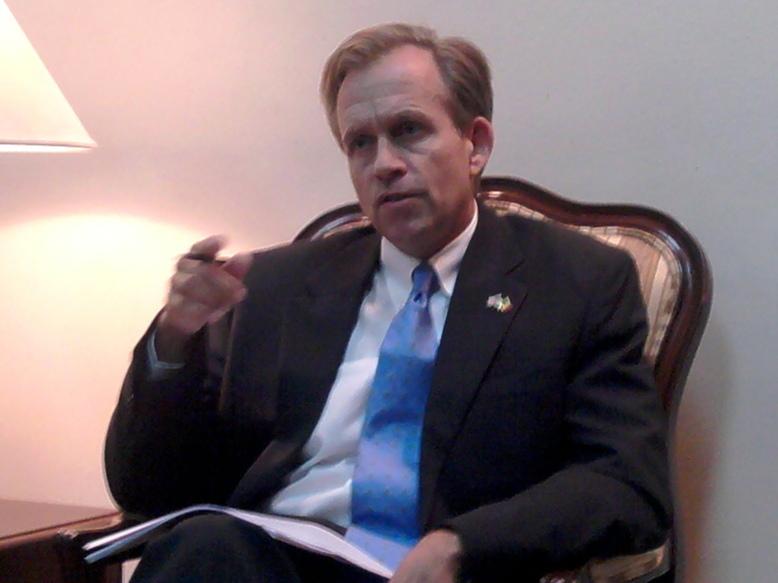 Son Excellence, M. Lewis Lukens Ambassadeur des Etats unis d'Amérique (USA) au Sénégal