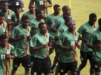 L'équipe de Zambie à l'entraînement. REUTERS/Amr Abdallah Dalsh
