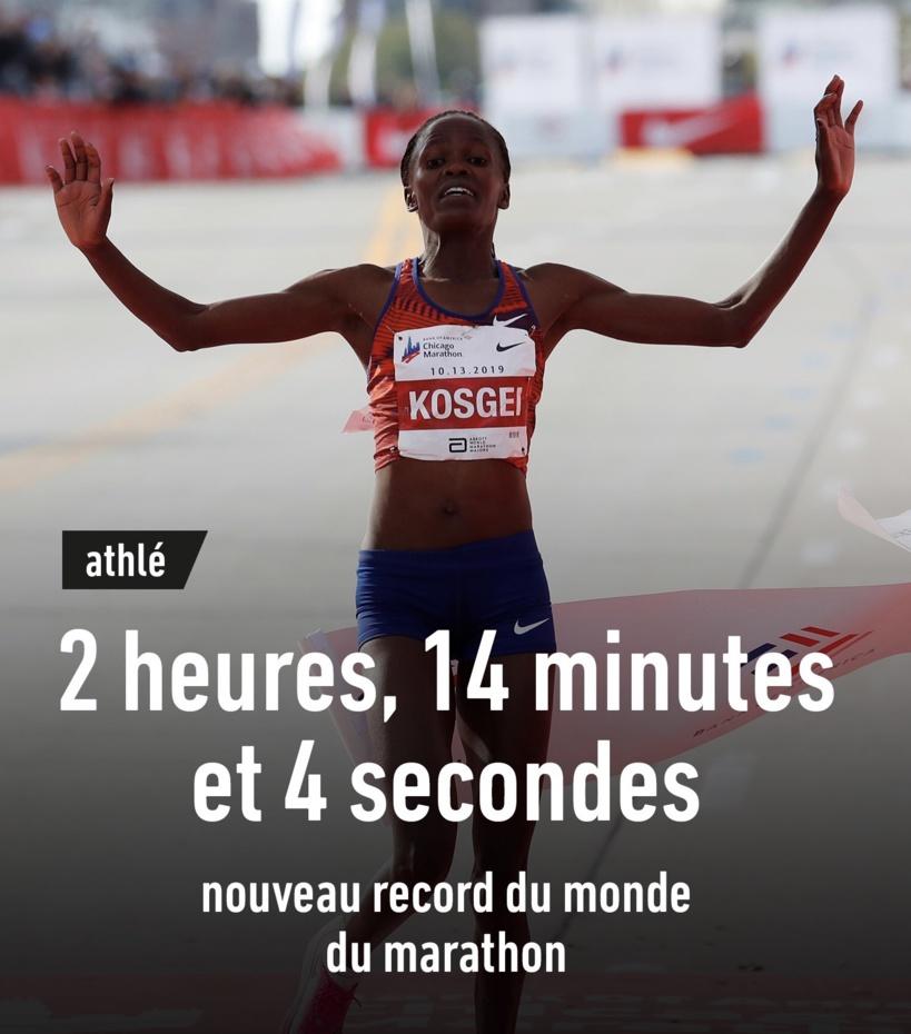 La Kényane Brigid Kosgei explose le record du monde du marathon