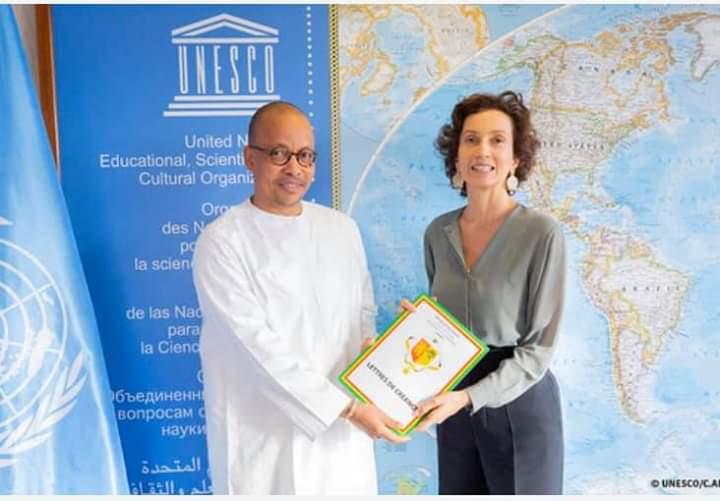 UNESCO: Souleymane jules Diop a présenté ses lettres de créance