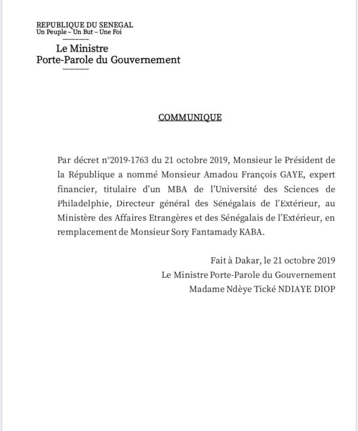 Dernière minute - Sory Kaba viré (décret): Macky Sall cautionne pour un troisième mandat
