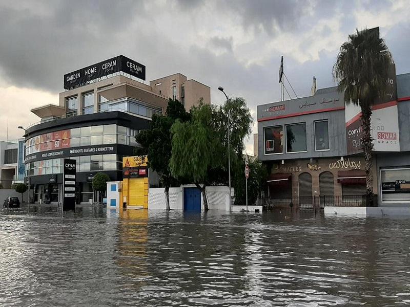 Tunisie: des pluies torrentielles paralysent Tunis