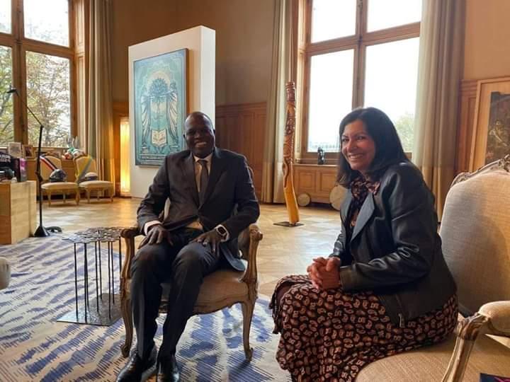 Paris : Khalifa Sall reçu par la mairesse Anne Hidalgo