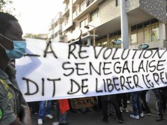 La mission d'observation électorale de l'Union européenne affirme que l'interdiction des manifestations décidée par le ministère sénégalais de l'Intérieur est contraire au Code électoral, Dakar le 21 février 2012. AFP/issouf Sanogo