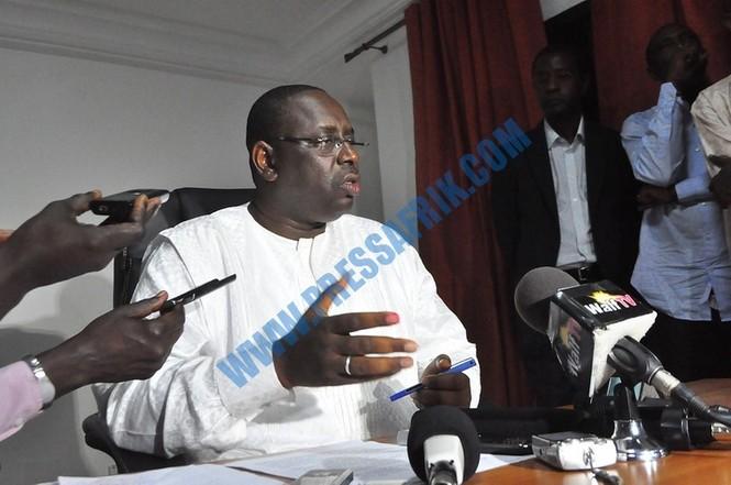 AUDIO - Présidentielle 2012: Macky Sall met en garde contre une volonté de confiscation des résultats