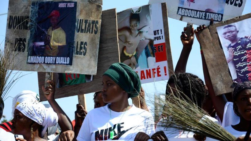 Guinée: les femmes dans la rue pour protester contre les violences